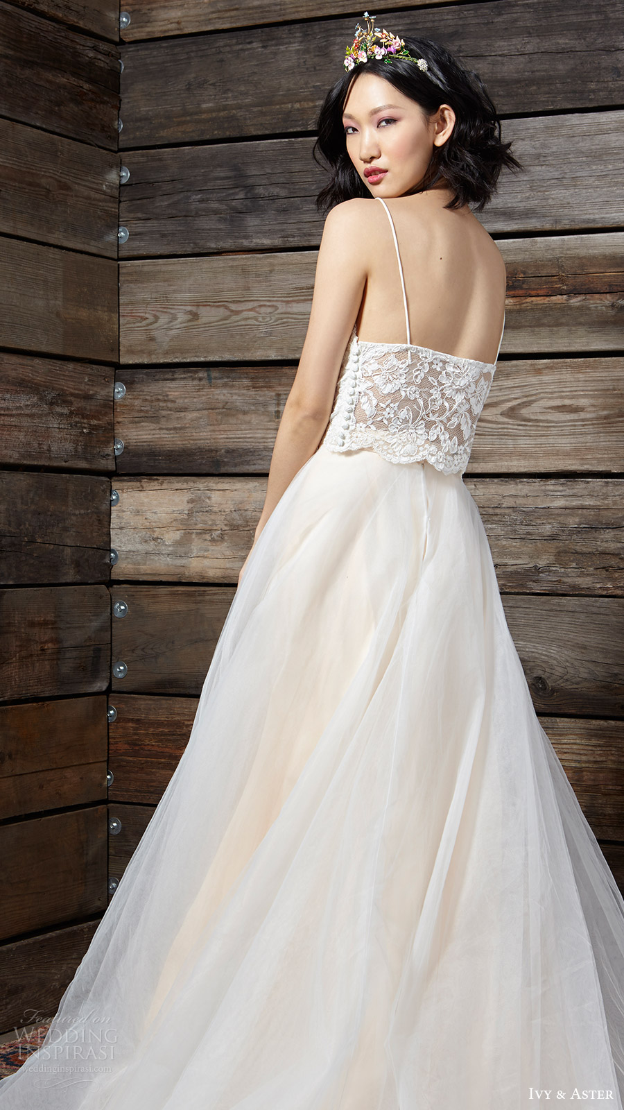 ivy aster bridal spring 2017 lace top ball gown skirt (sadie duchess iii) zbv