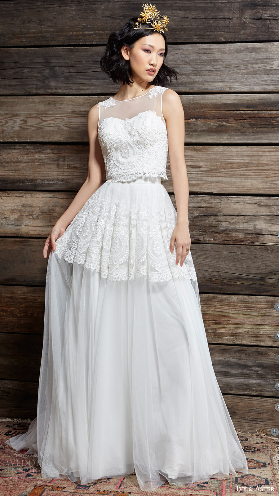 ivy aster bridal spring 2017 leighton sleeveless top lillian skirt