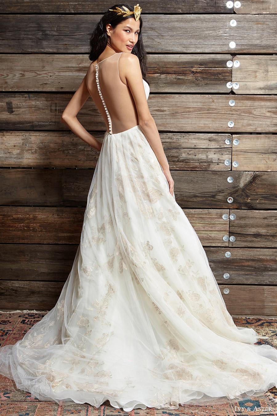 ivy aster bridal spring 2017 sleeveless deep vneck ball gown wedding dress (cherry blossom) bv