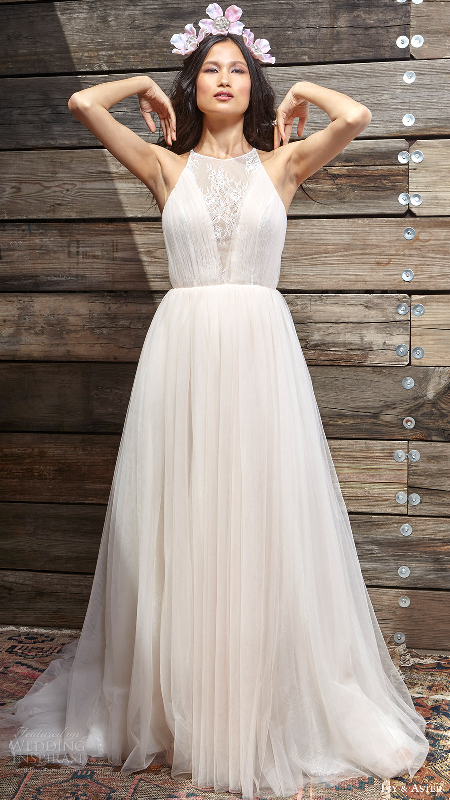 Ivy aster spring 2017 wedding dresses a moment in for Halter ball gown wedding dresses
