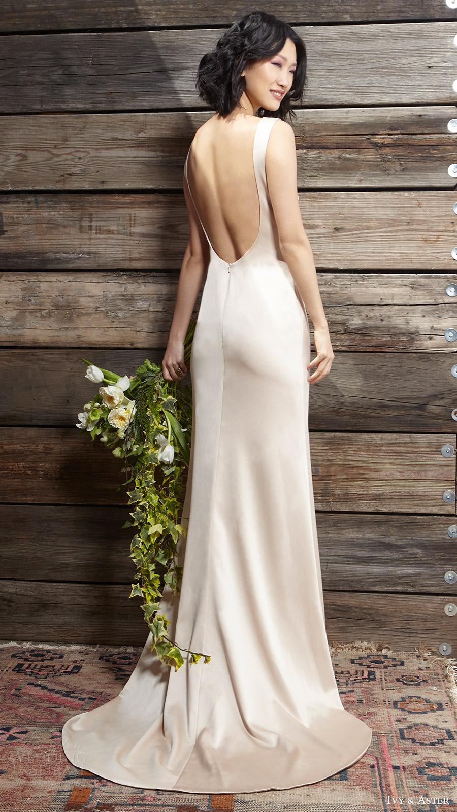 1f6d413ad6bd ivy aster bridal spring 2017 sleeveless jewel neck slip wedding dress  (sylvia) bv scoop