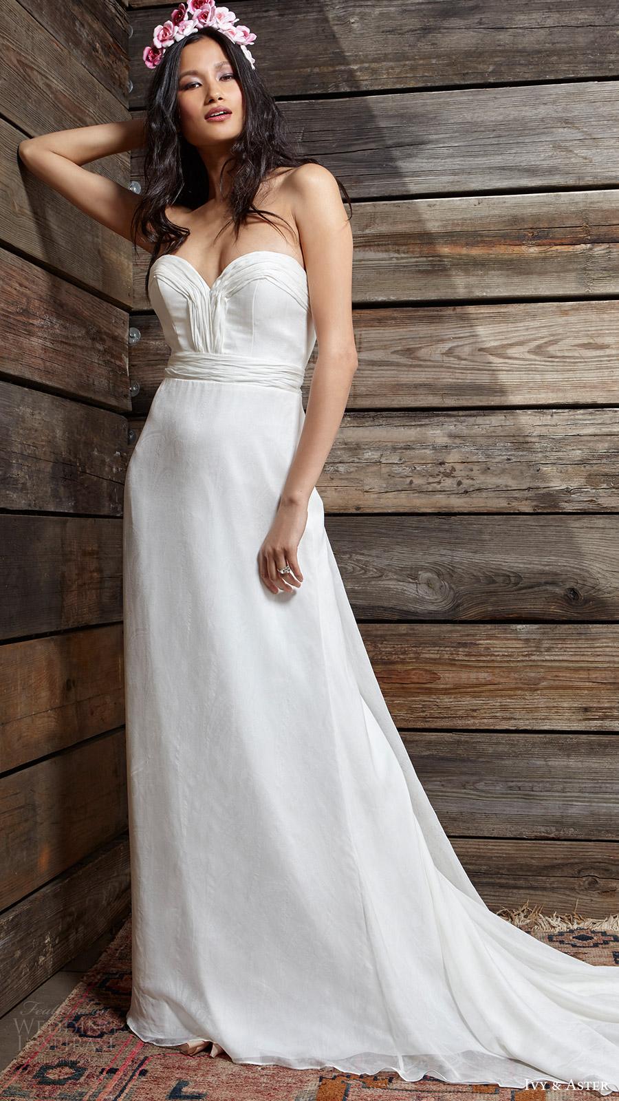 ivy aster bridal spring 2017 strapless sweetheart aline wedding dress (amelie) mv