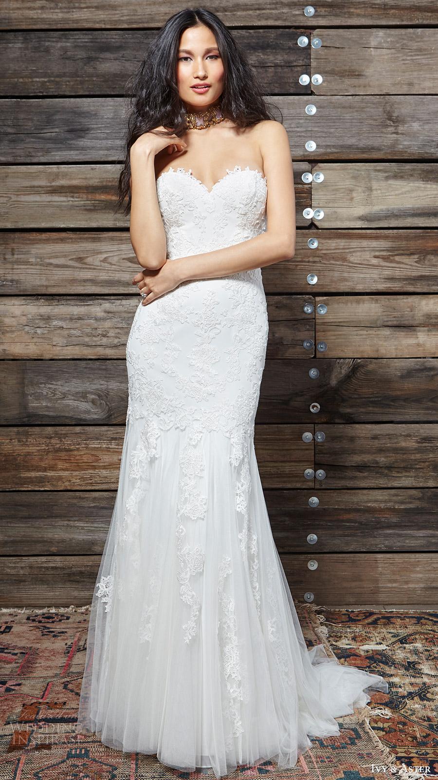 ivy aster bridal spring 2017 strapless sweetheart trumpet lace wedding dress (liberty) mv