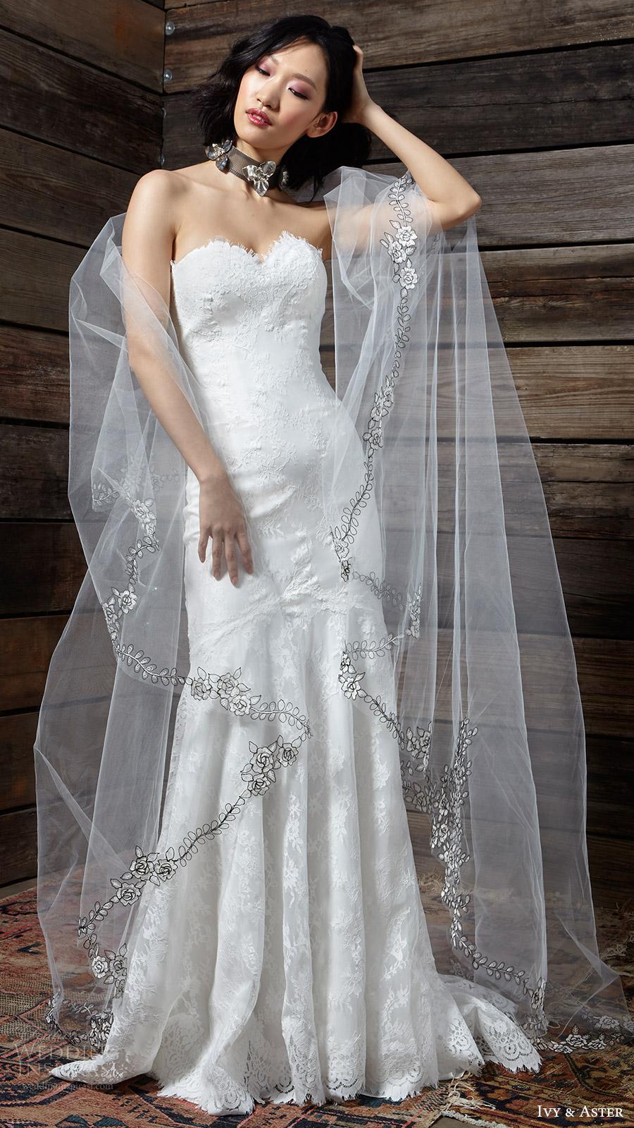 Sweetheart Trumpet Wedding Dresses 37 Elegant ivy aster bridal spring