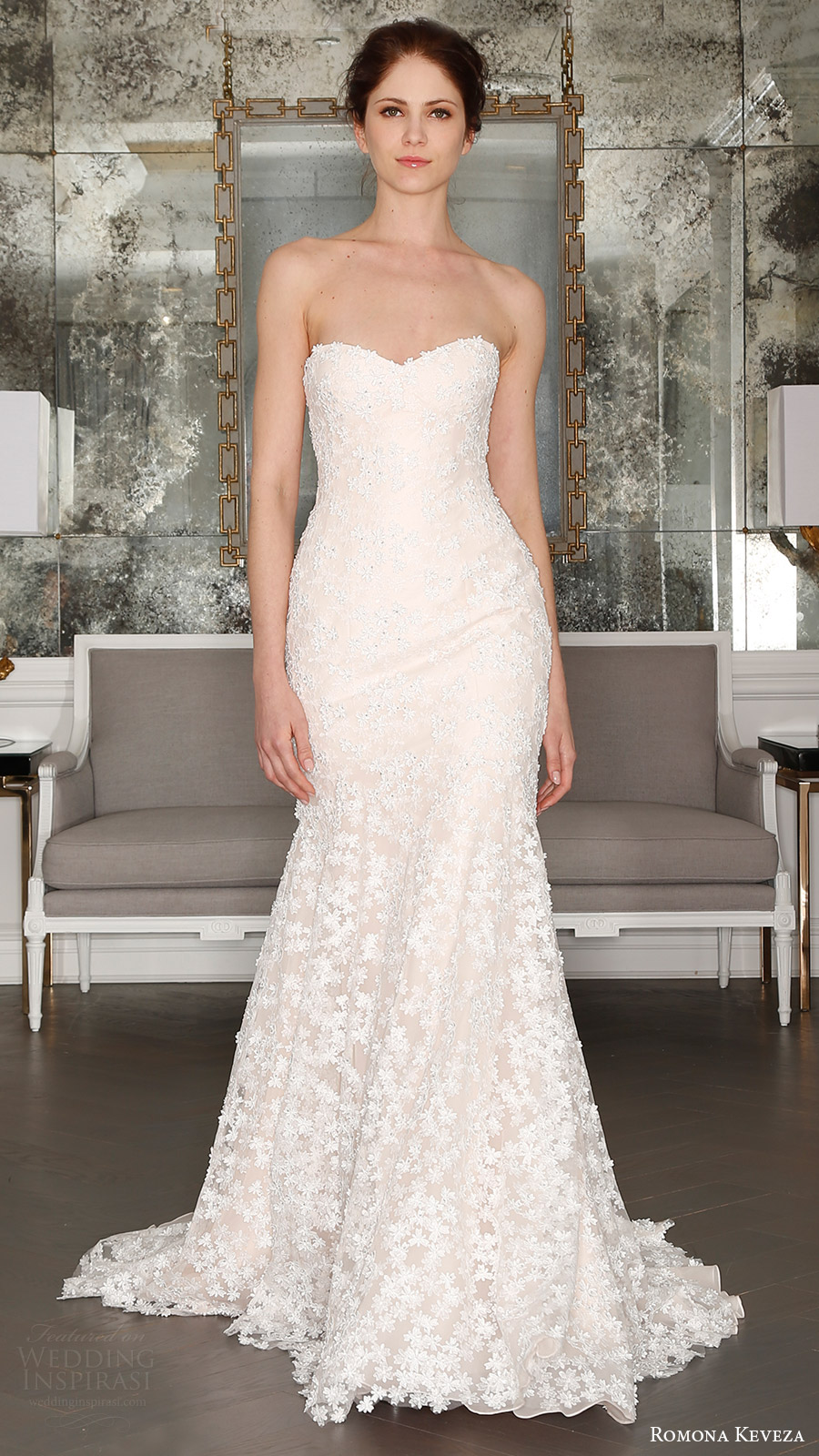 romona keveza bridal spring 2017 strapless sweetheart trumpet wedding dress (rk7408) mv