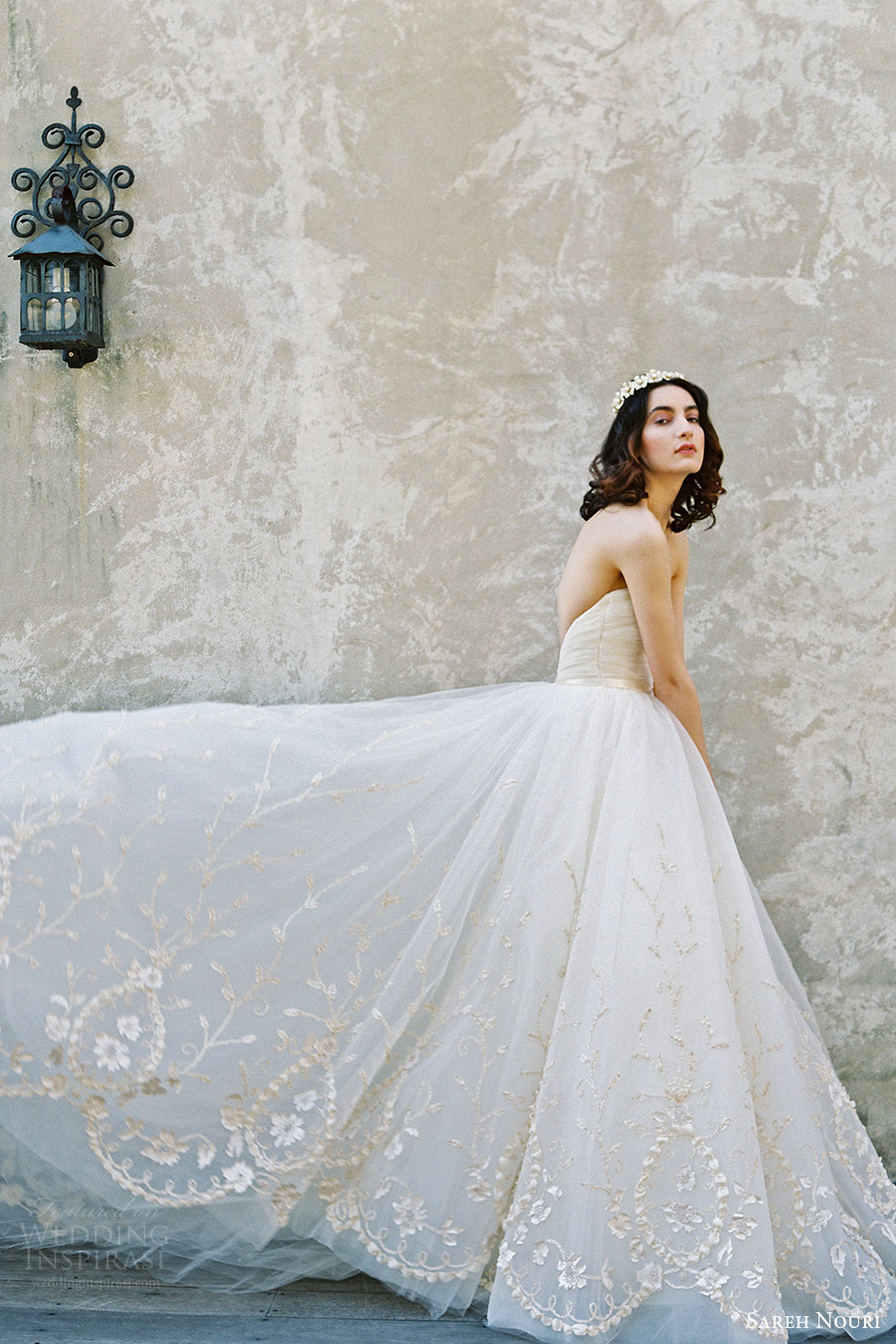 sareh nouri bridal spring 2017 strapless straightacross ball gown wedding dress (ivy) fv