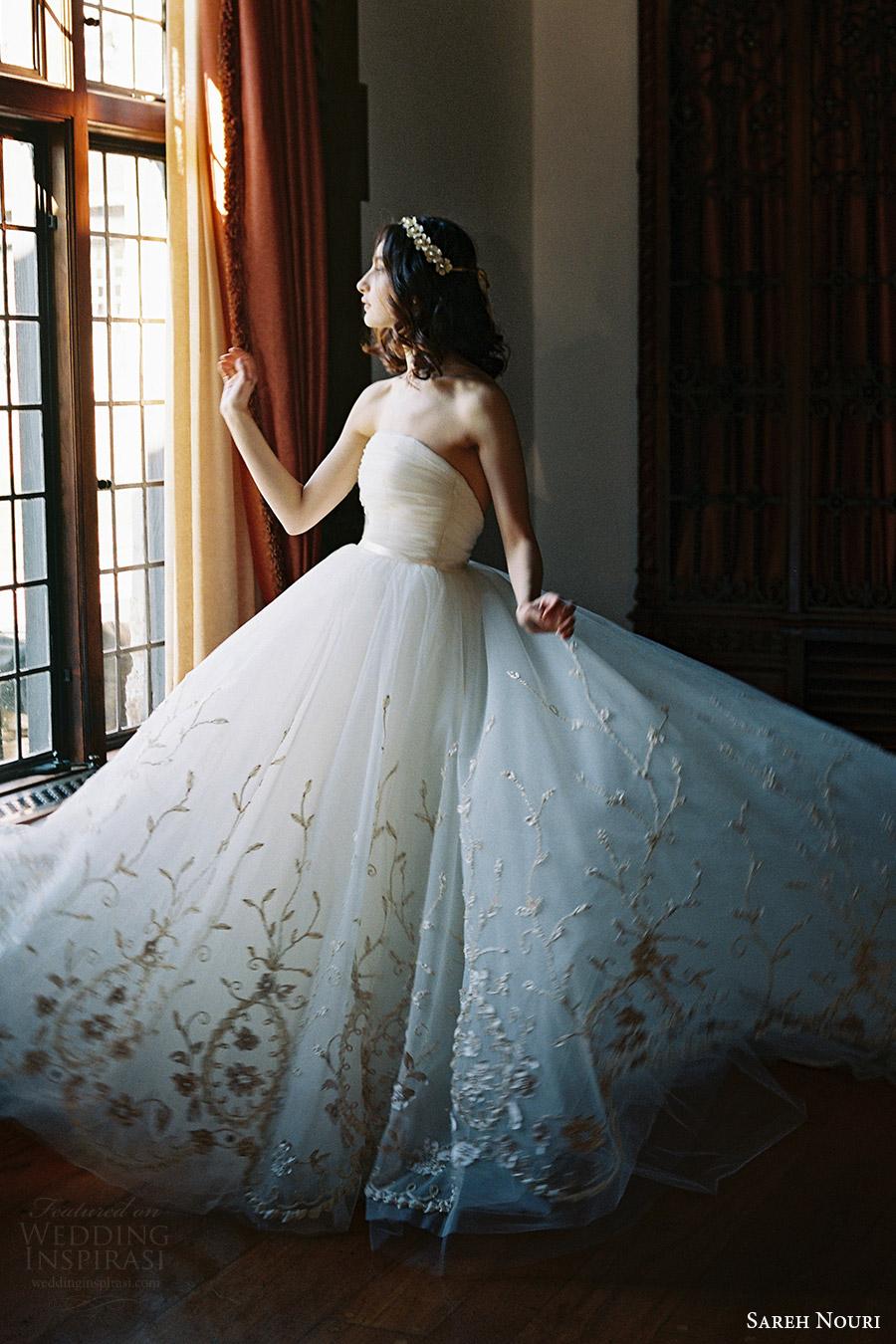 sareh nouri bridal spring 2017 strapless straightacross ball gown wedding dress (ivy) sv   train romantic