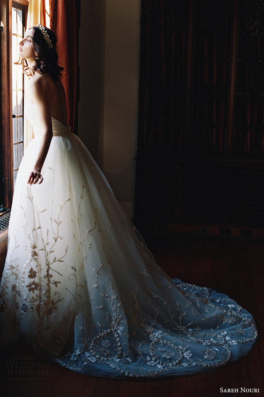 sareh nouri bridal spring 2017 strapless straightacross ball gown wedding dress (ivy) sv train