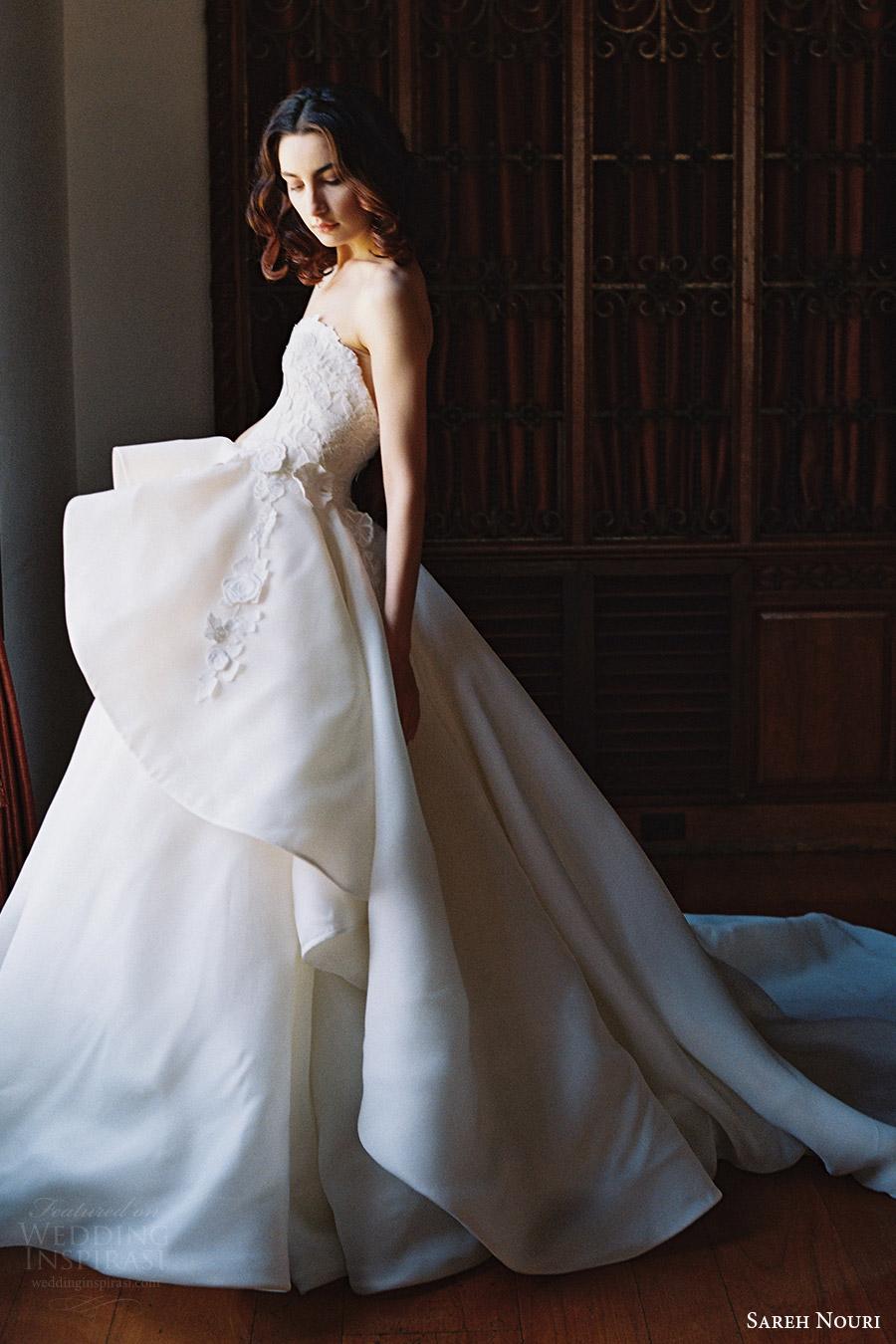 sareh nouri bridal spring 2017 strapless sweetheart ball gown wedding dress (dahlia) svtrain