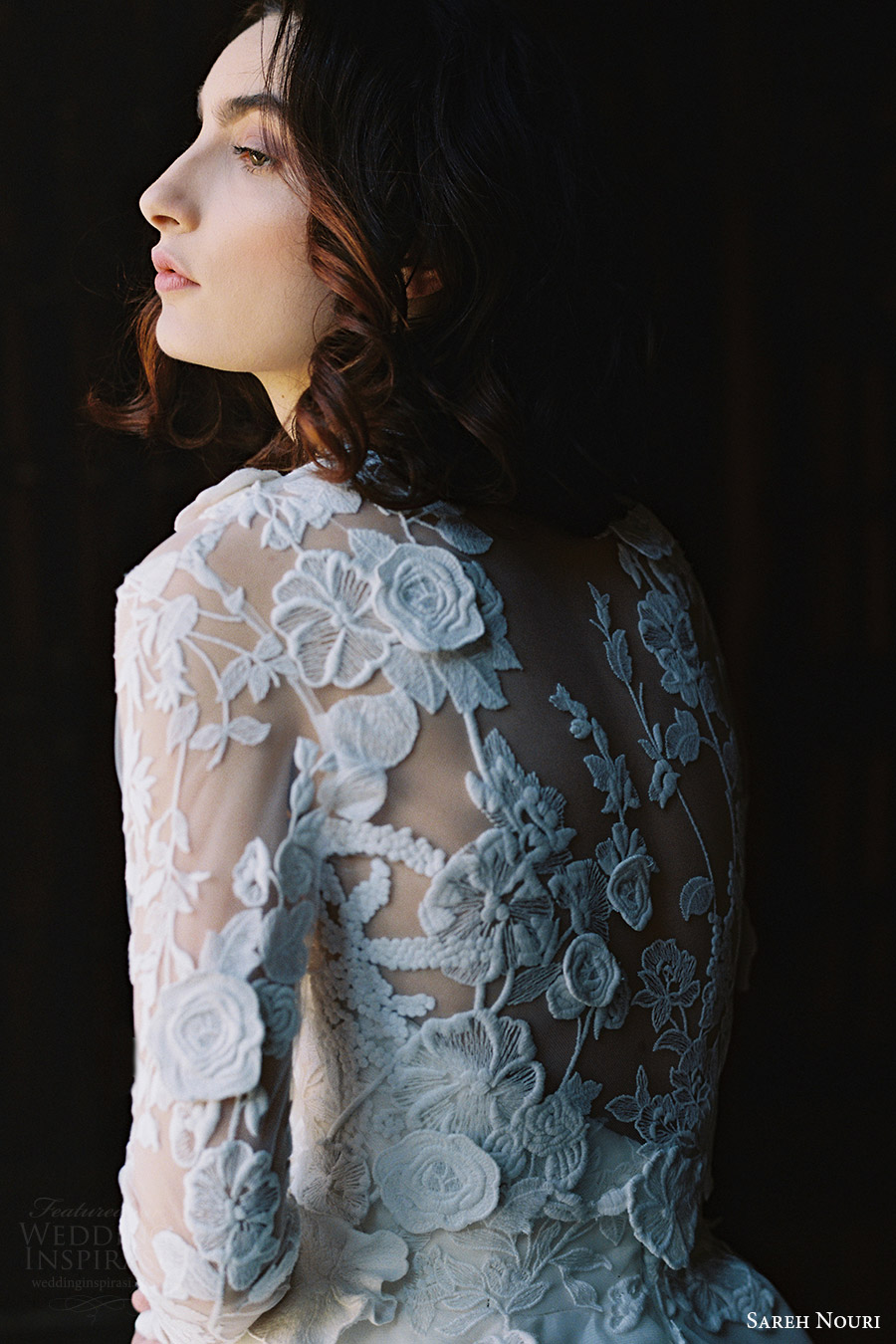 sareh nouri bridal spring 2017 strapless sweetheart ball gown wedding dress (dahlia) zbv lace jacket