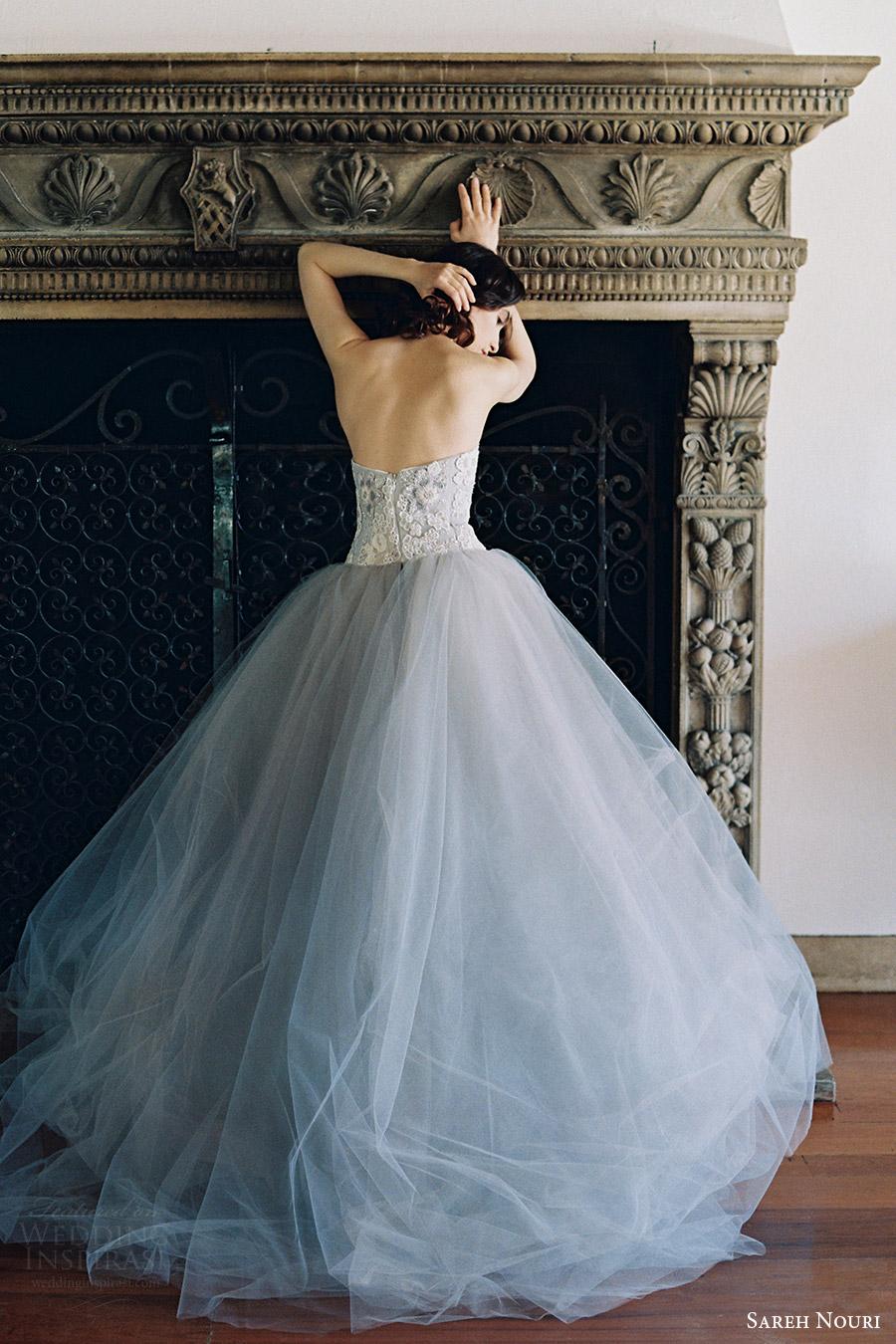 sareh nouri bridal spring 2017 strapless sweetheart ball gown wedding dress (iris) bv  gray color