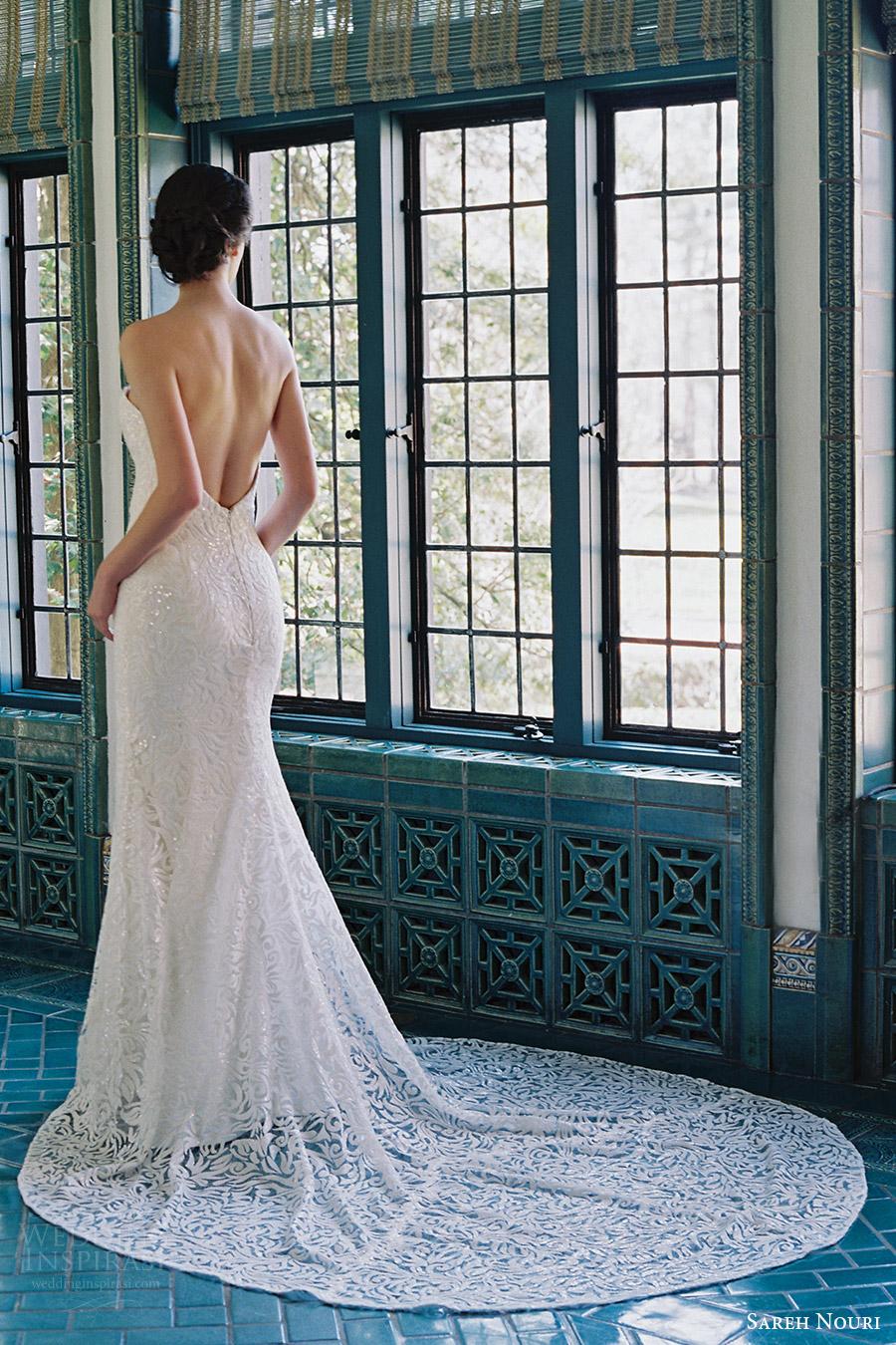 sareh nouri bridal spring 2017 strapless sweetheart trumpet lace wedding dress (marigold) bv low back train