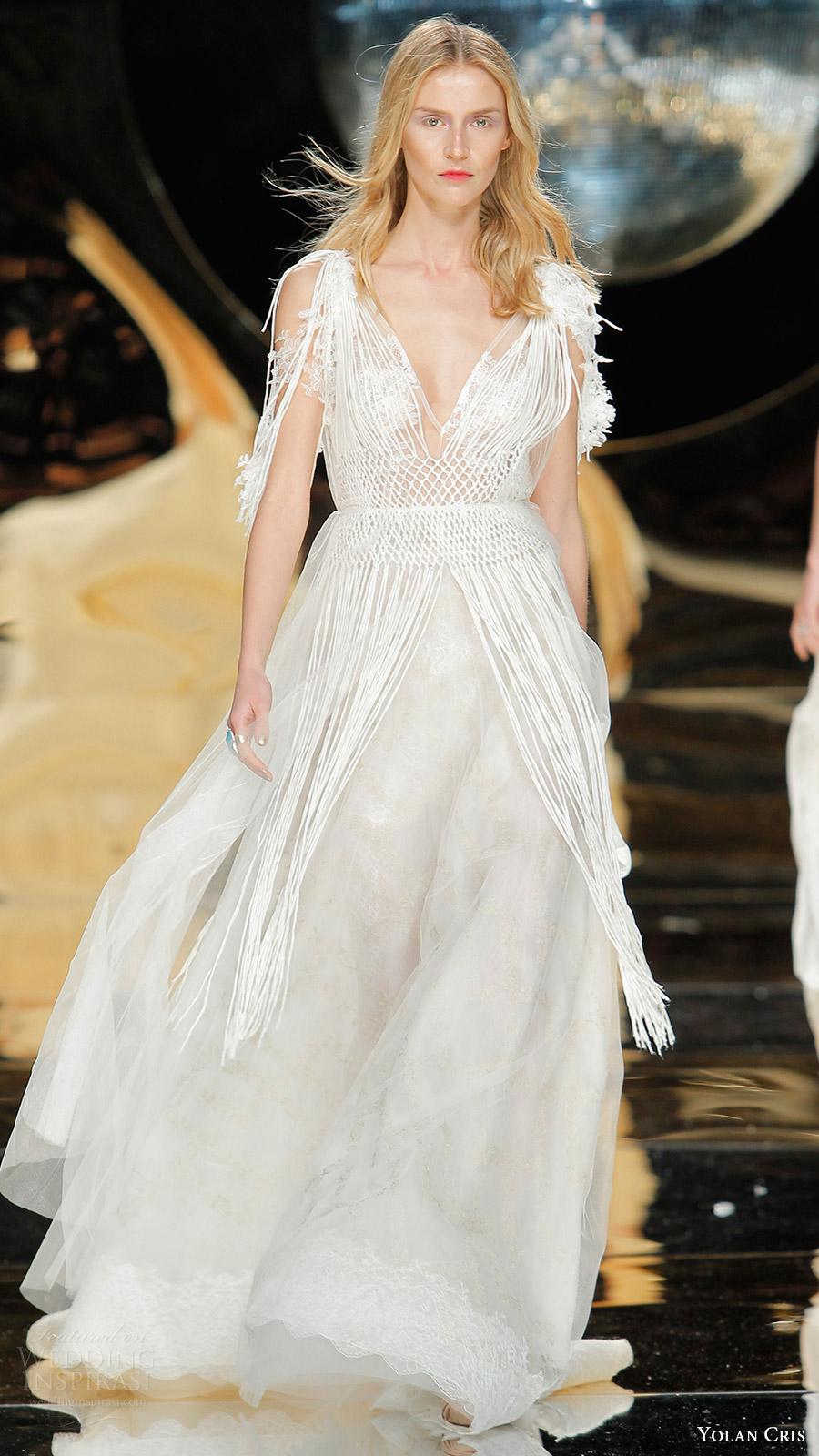 Gypsy Style Wedding Dresses 59 Amazing yolan cris bridal fringe