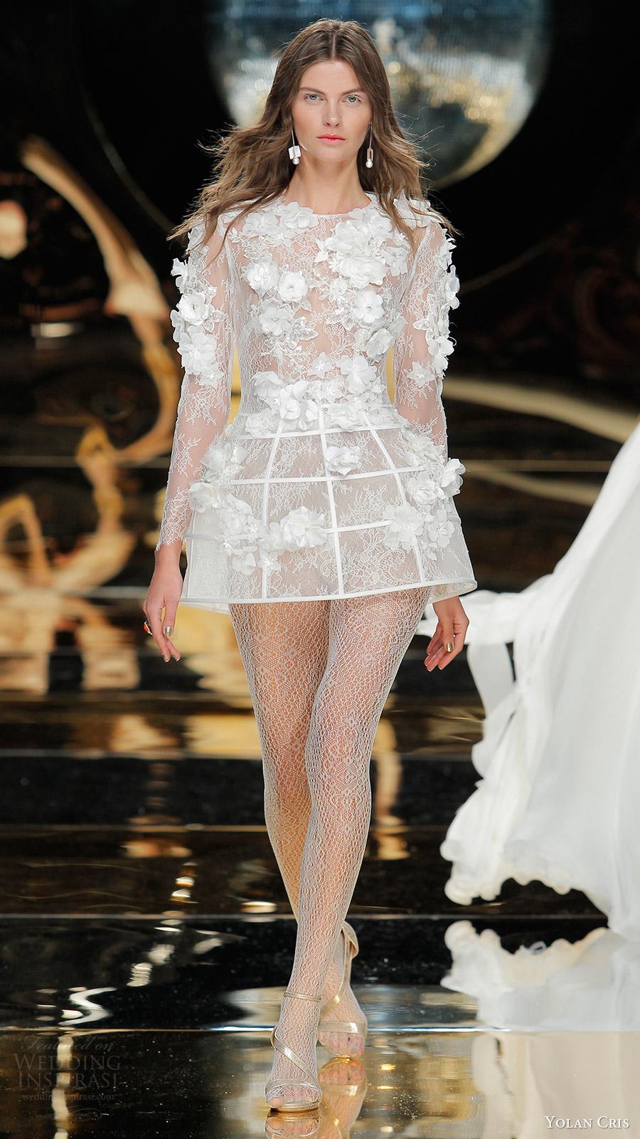 Short Couture Wedding Dresses 40 Superb yolan cris bridal illusion