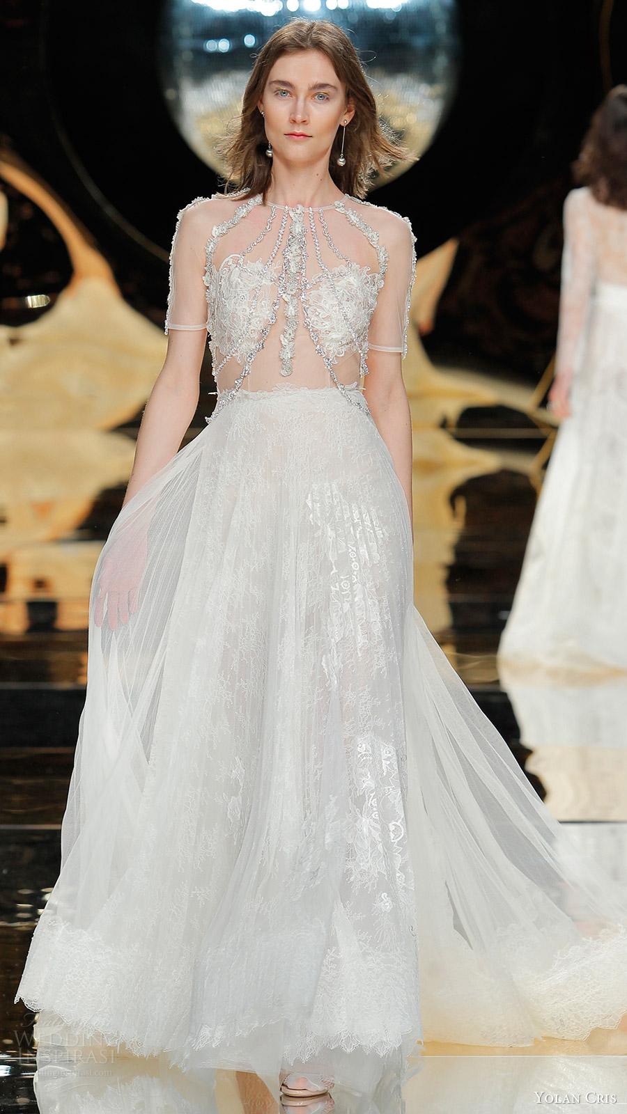 Short Couture Wedding Dresses 31 Lovely yolan cris bridal illusion