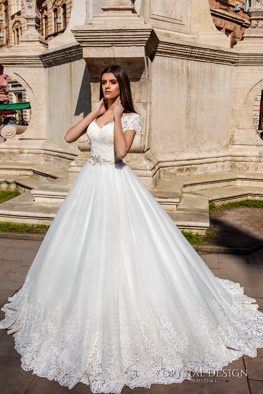 Beautiful Cap Sleeve Wedding Dress