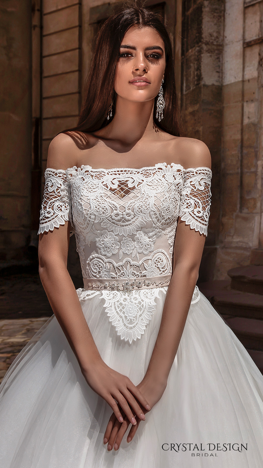 Crystal design 2016 wedding dresses wedding inspirasi for Lace off the shoulder wedding dresses