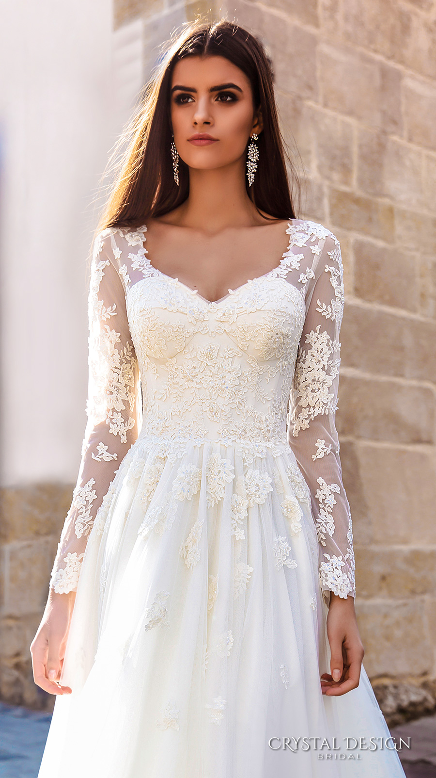 Crystal design 2016 wedding dresses wedding inspirasi for Elegant wedding dresses with long sleeves