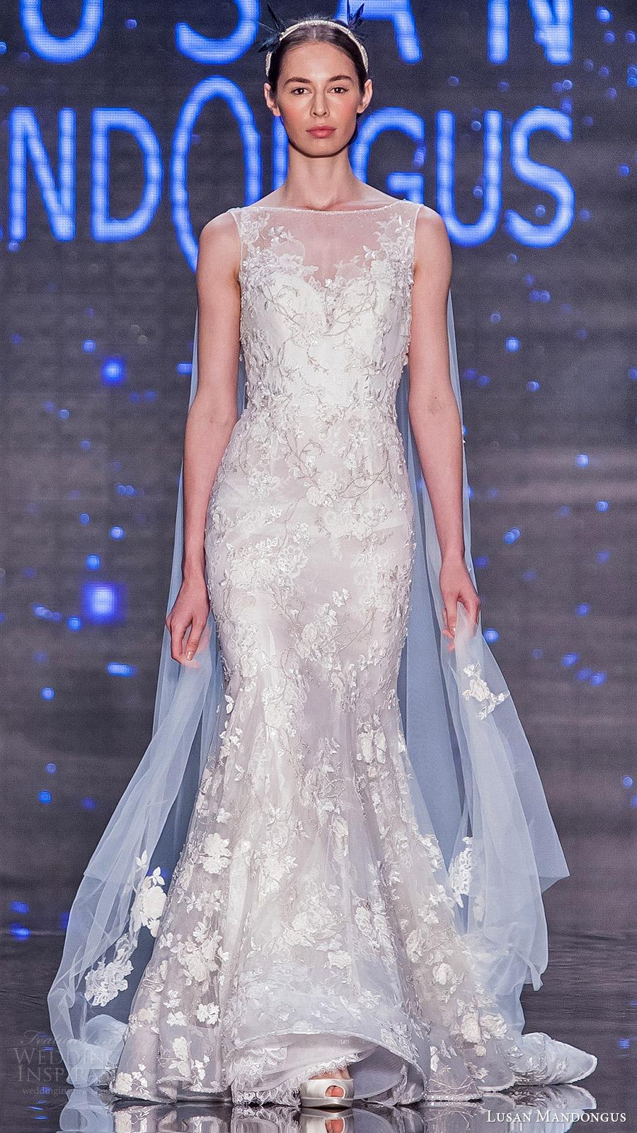 lusan mandongus bridal 2017 sleeveless bateau neck trumpet wedding dress (epsilon) mv