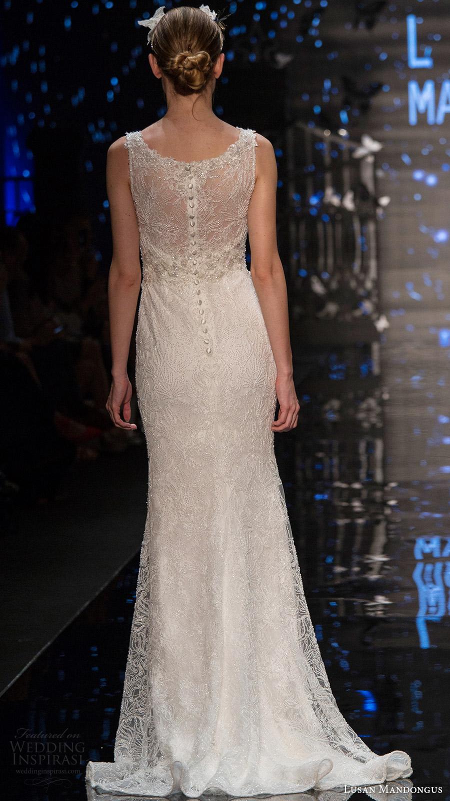 lusan mandongus bridal 2017 sleeveless illusion bateau neck trumpet wedding dress (sigma) bv illusion back