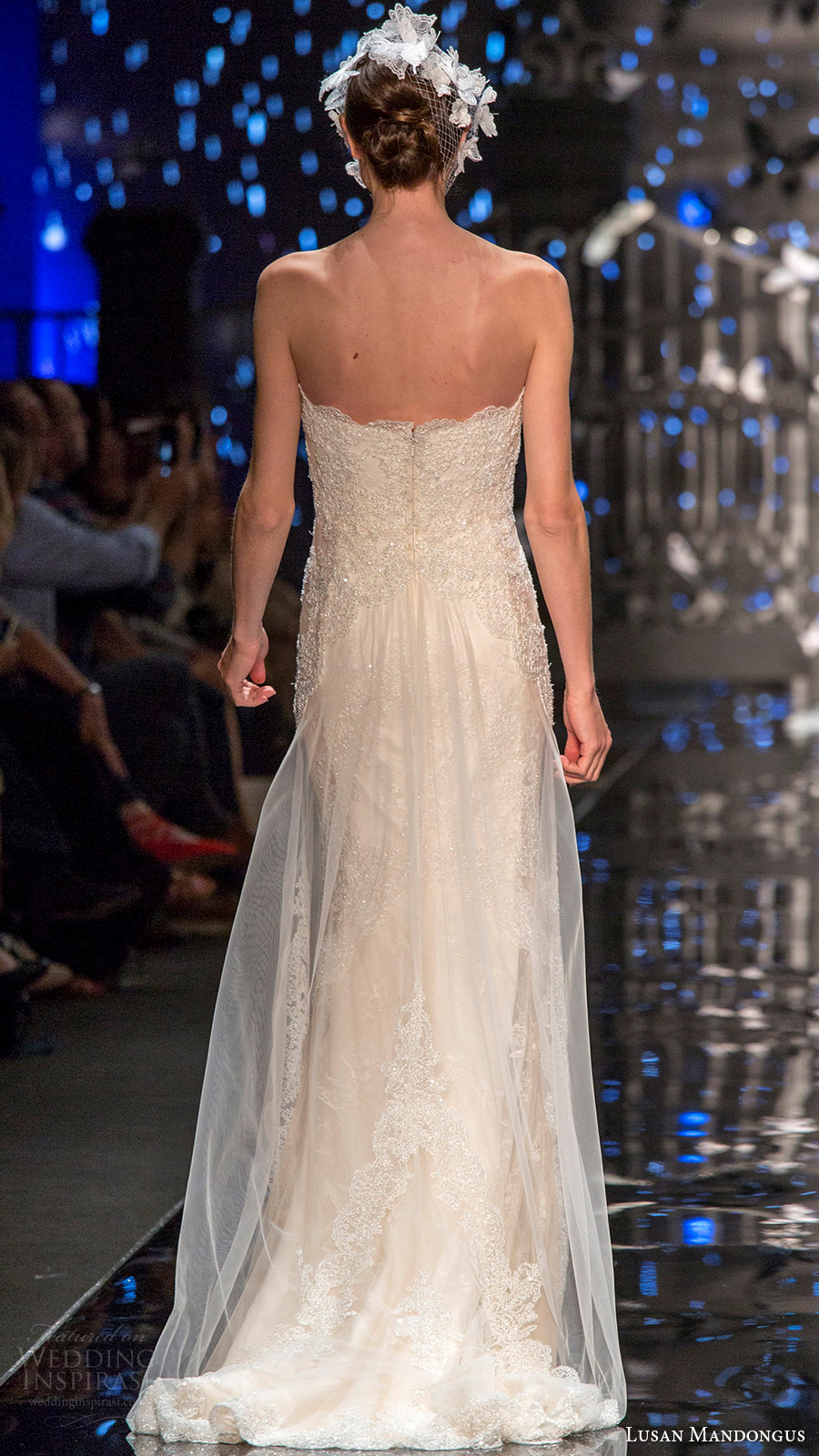 lusan mandongus bridal 2017 strapless sweetheart beaded sheath wedding dress (lyrids) bv train