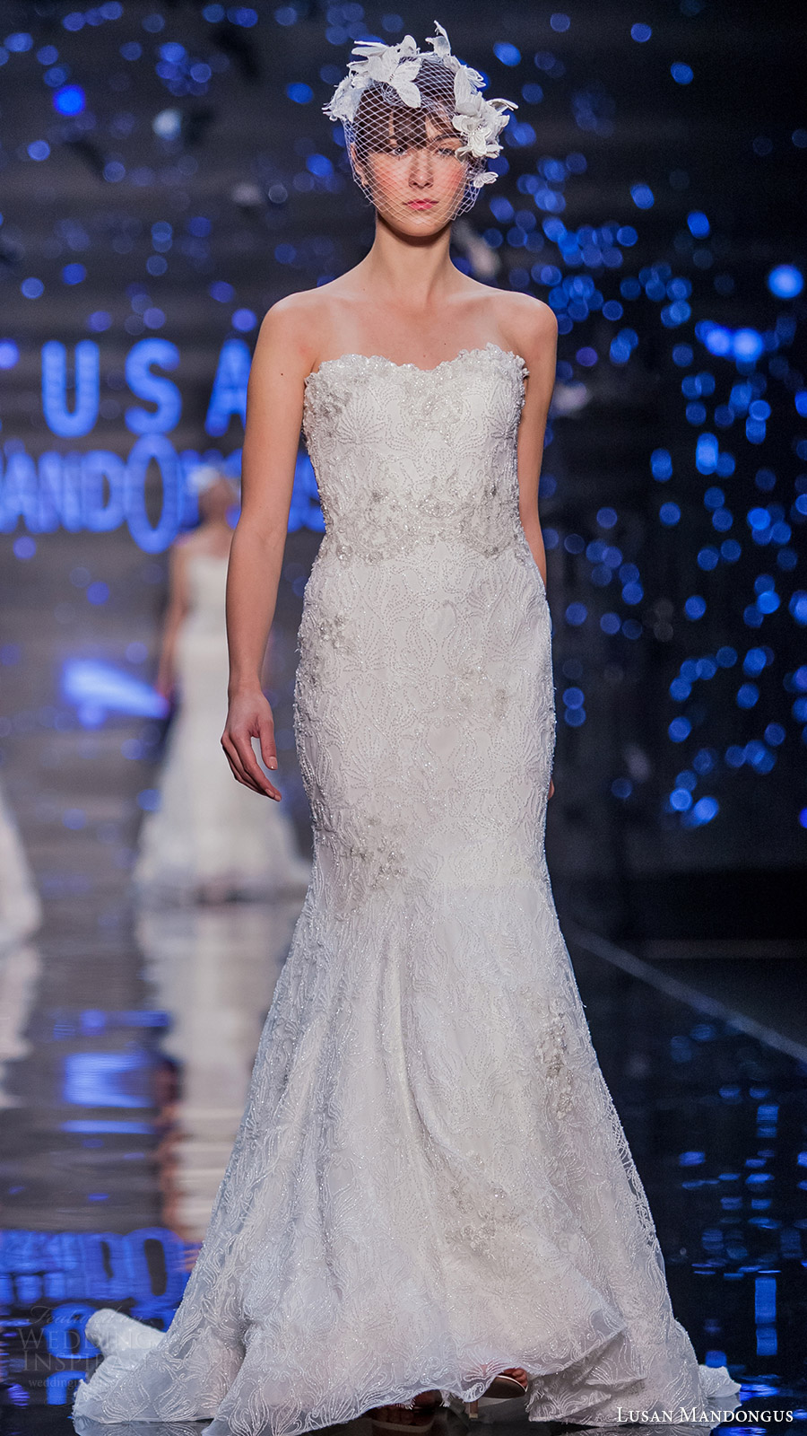 lusan mandongus bridal 2017 strapless sweetheart trumpet beaded wedding dress (comae) mv