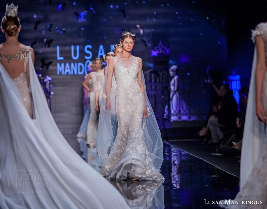 lusan mandongus bridal 2017 wedding dresses finale si sposa italia runway