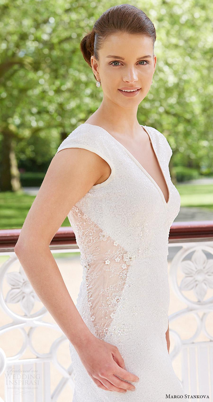 margo stankova bridal 2017 cap sleeve vneck trumpet wedding dress (01) zv