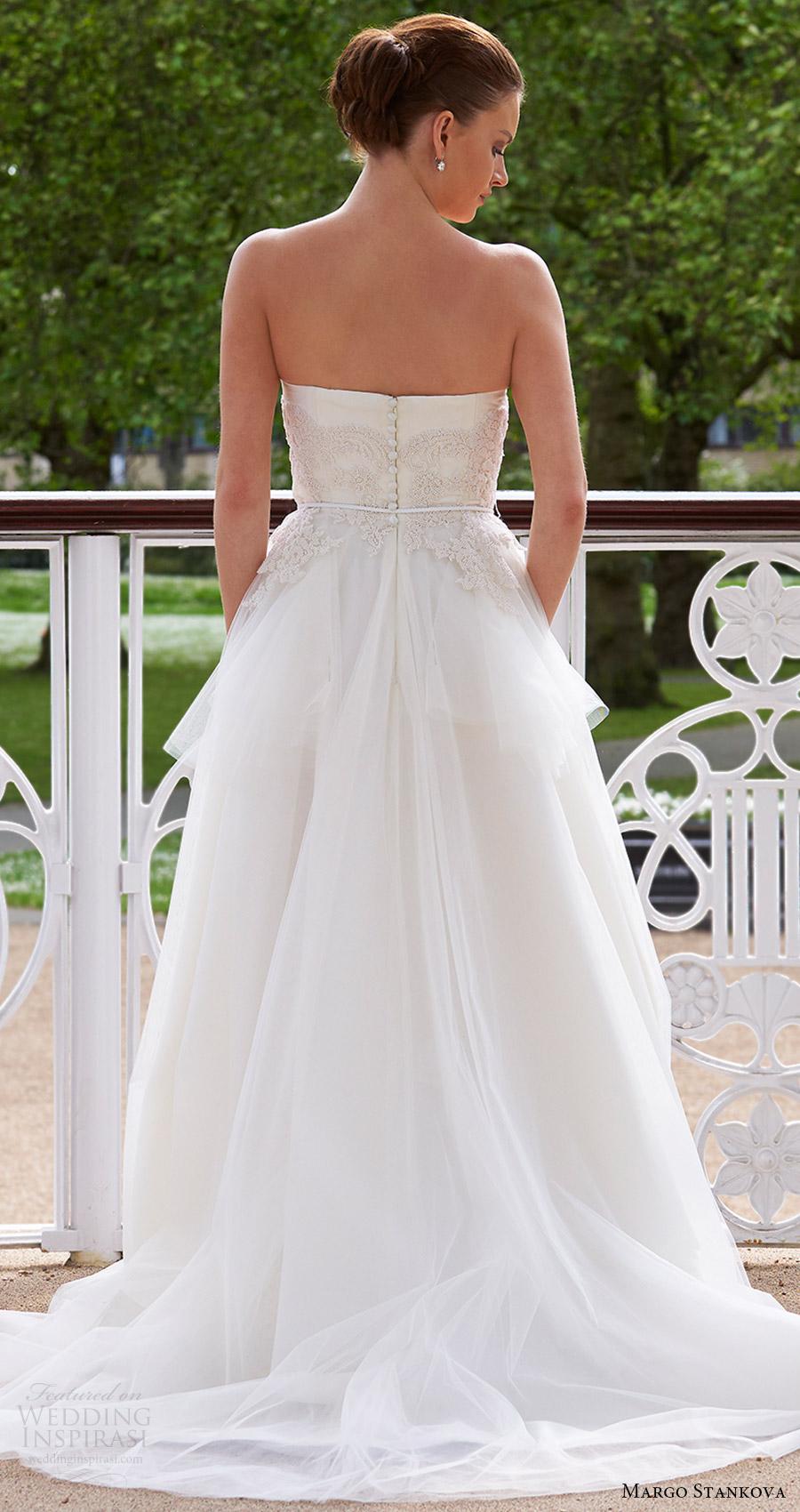 margo stankova bridal 2017 strapless sweetheart ball gown wedding dress (05) bv beaded bodice train