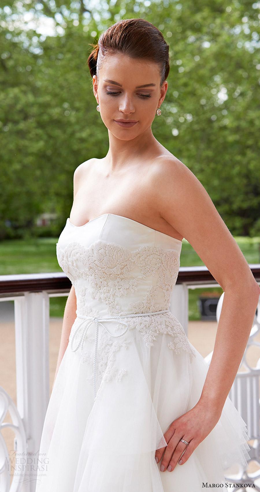 margo stankova bridal 2017 strapless sweetheart ball gown wedding dress (05) zv beaded bodice