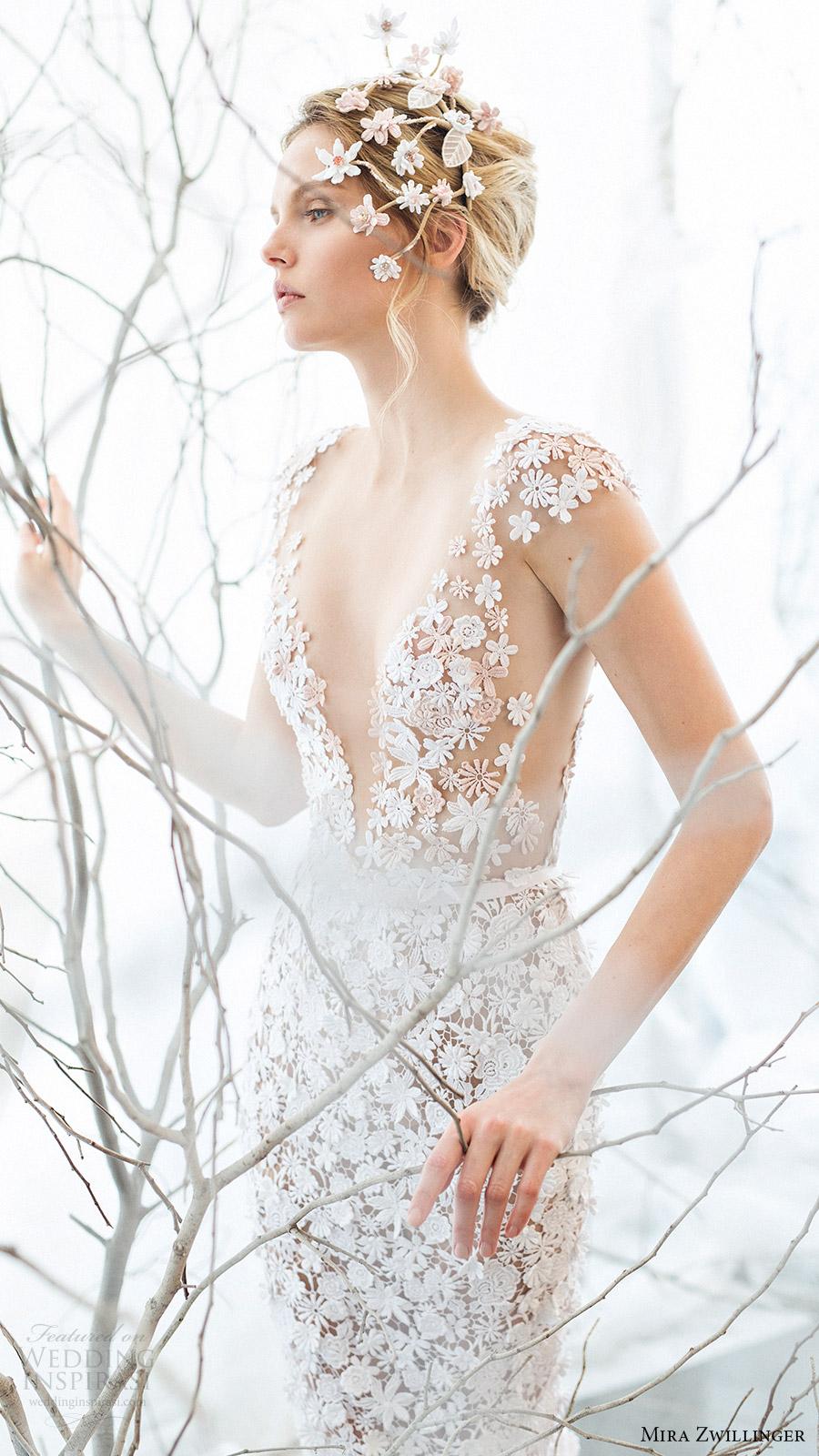 mira zwillinger bridal 2017 cap sleeves vneck guipure lace sheath wedding dress (noelle) mv