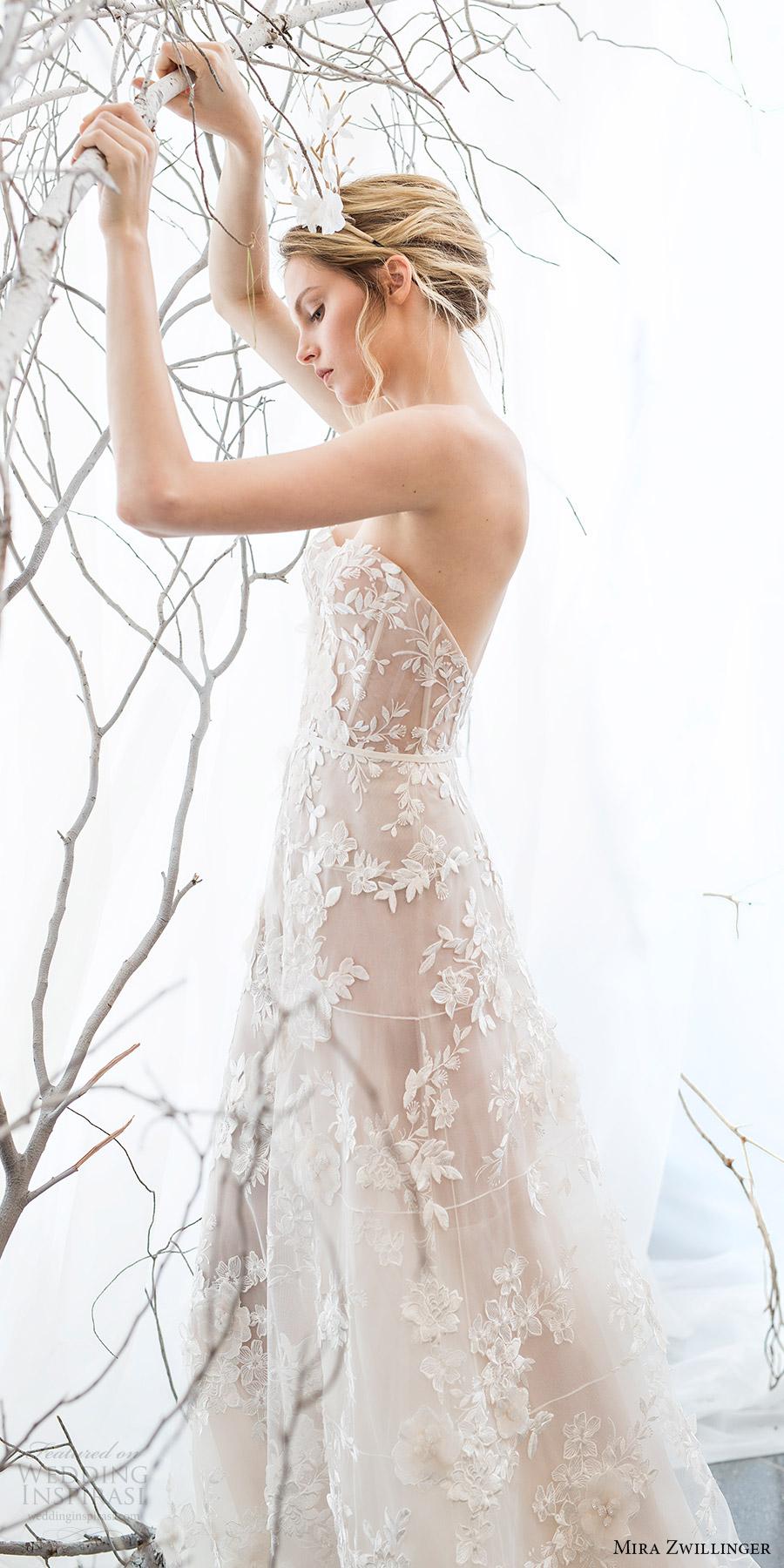 mira zwillinger bridal 2017 strapless sweetheart aline wedding dress (berrie) bv