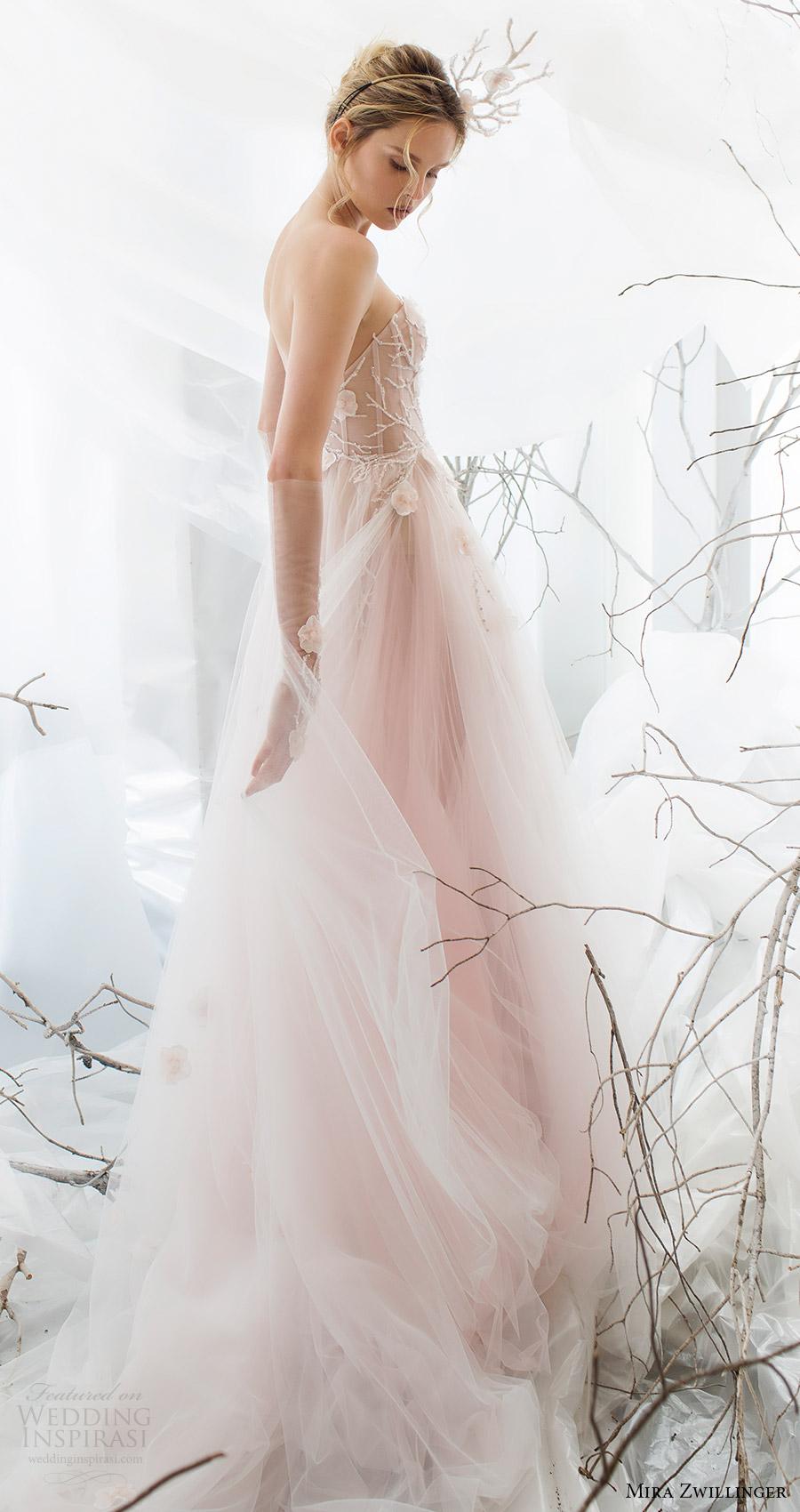 mira zwillinger bridal 2017 strapless sweetheart aline wedding dress (flora) sv