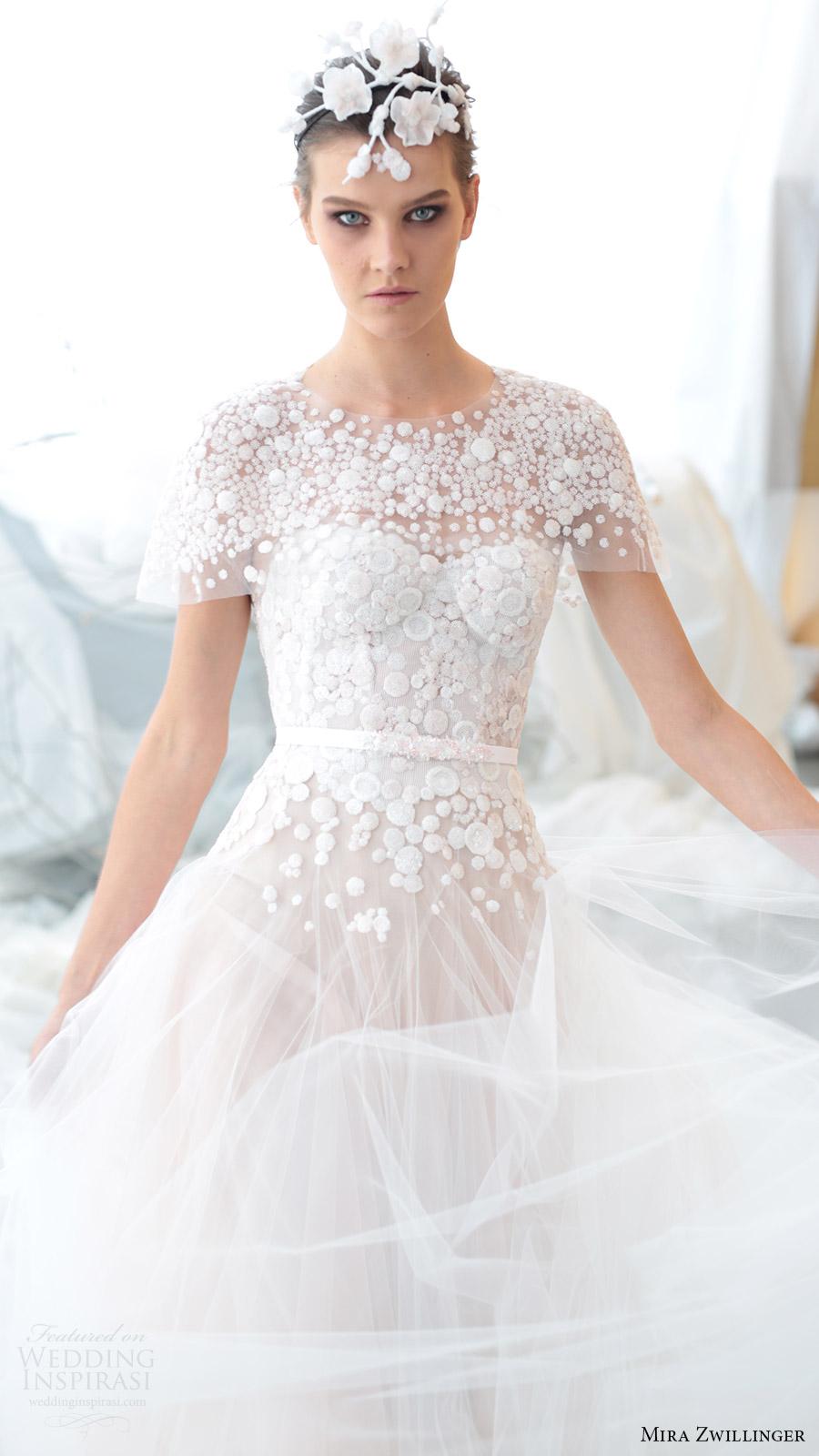mira zwillinger bridal 2017 strapless sweetheart aline wedding dress (viola) capelet mv