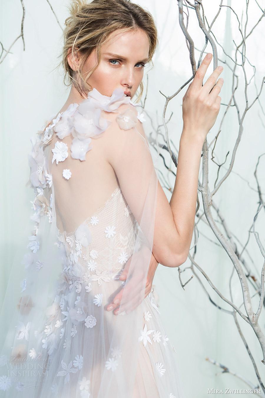 mira zwillinger bridal 2017 strapless sweetheart ball gown wedding dress (elsa) sheer cape train zbv