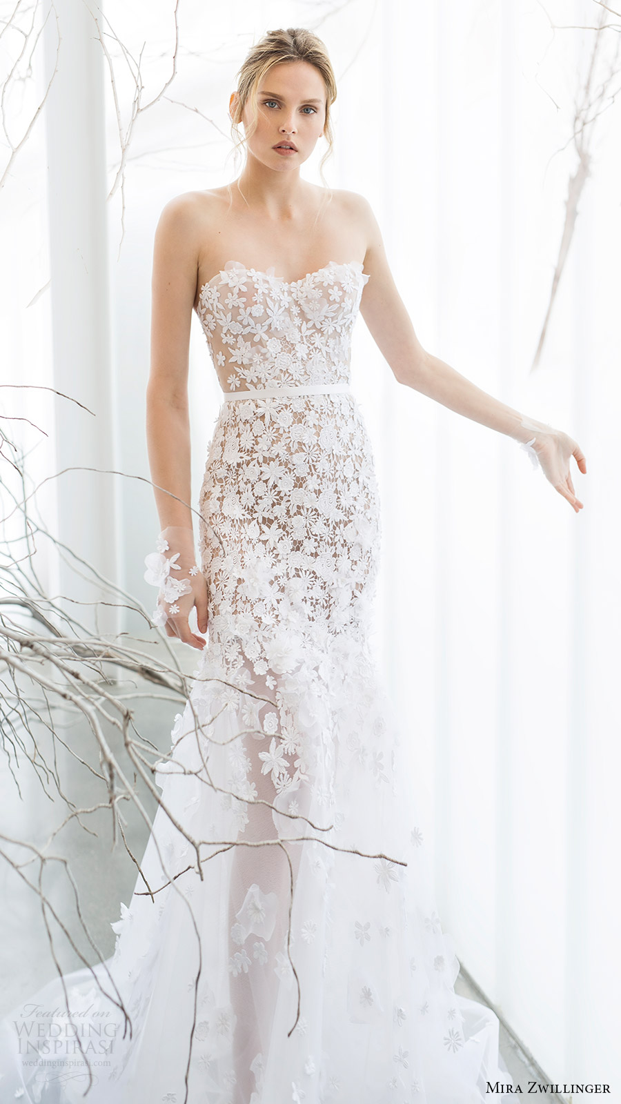 mira zwillinger bridal 2017 strapless sweetheart trumpet wedding dress (lilya) mv