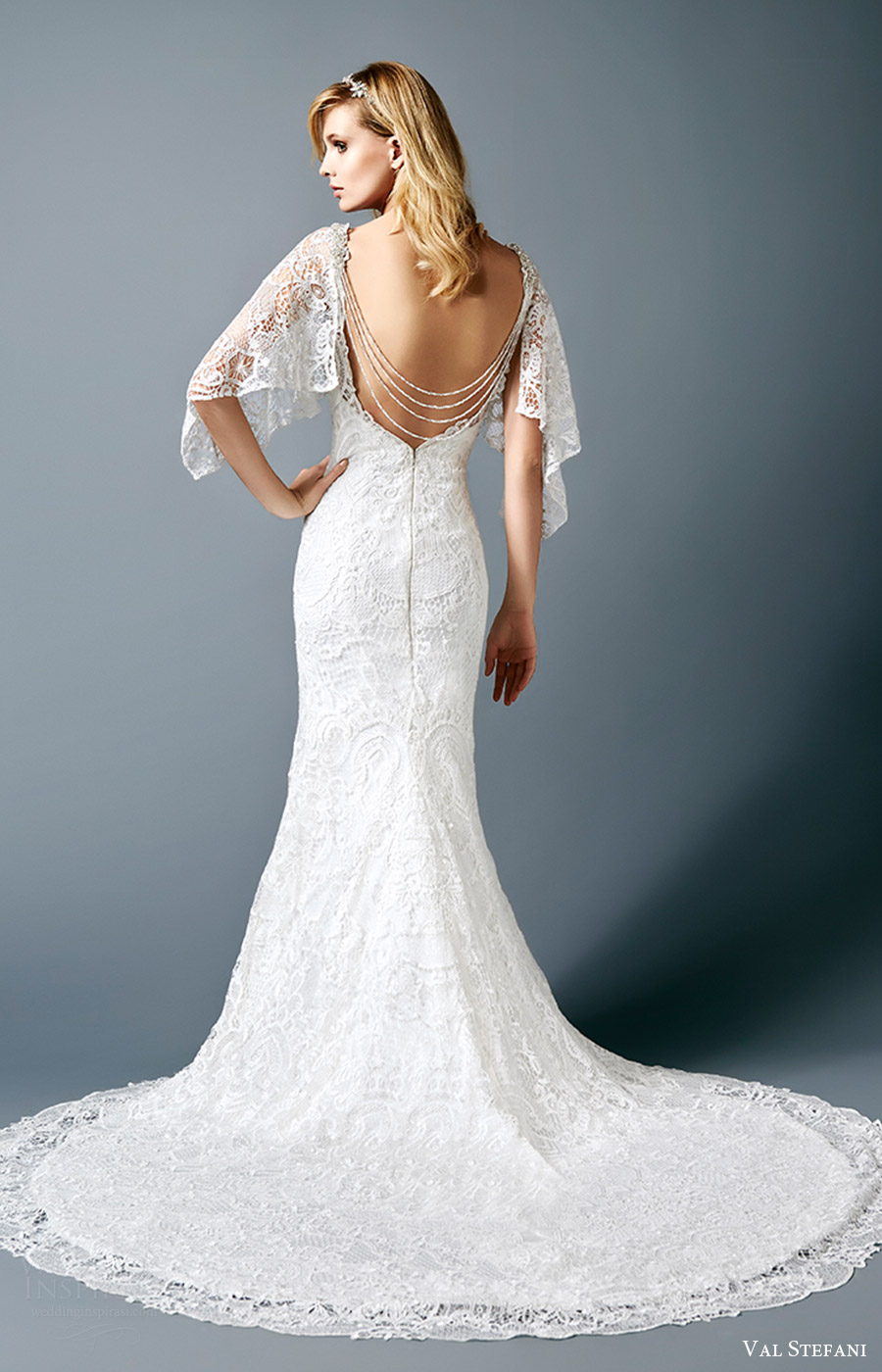Val stefani fall 2016 wedding dresses interview with for Wedding dress detachable sleeves