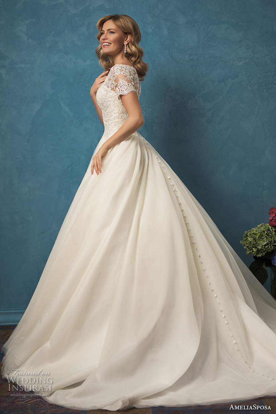 Ball Gown Wedding Dresses With Short Sleeves : Amelia sposa wedding dresses inspirasi