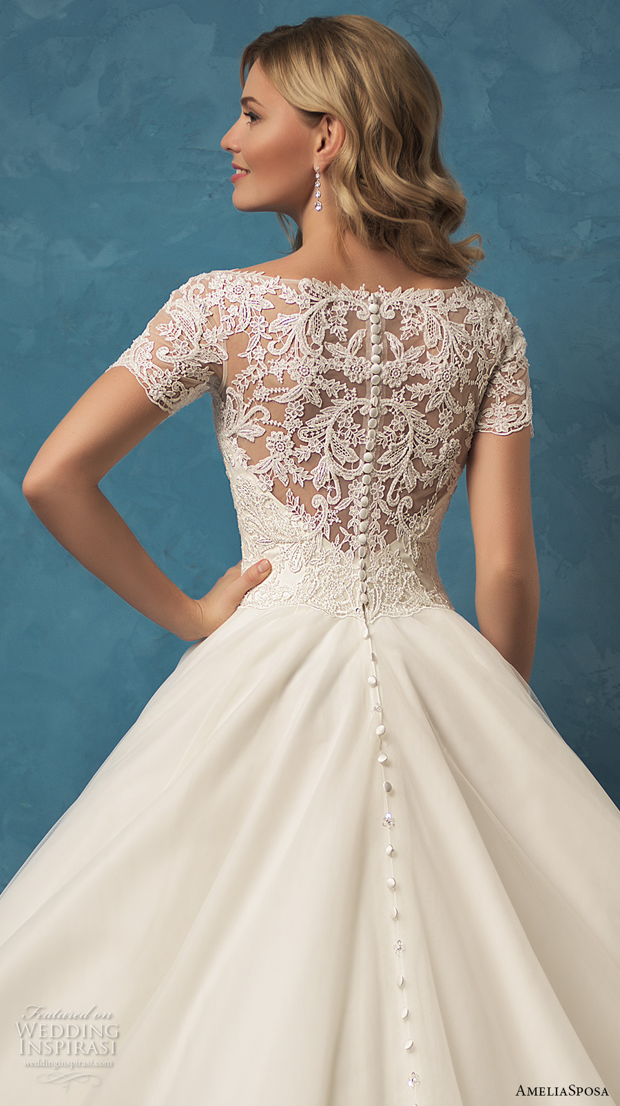 Wedding Gowns With Short Sleeves 2017 47