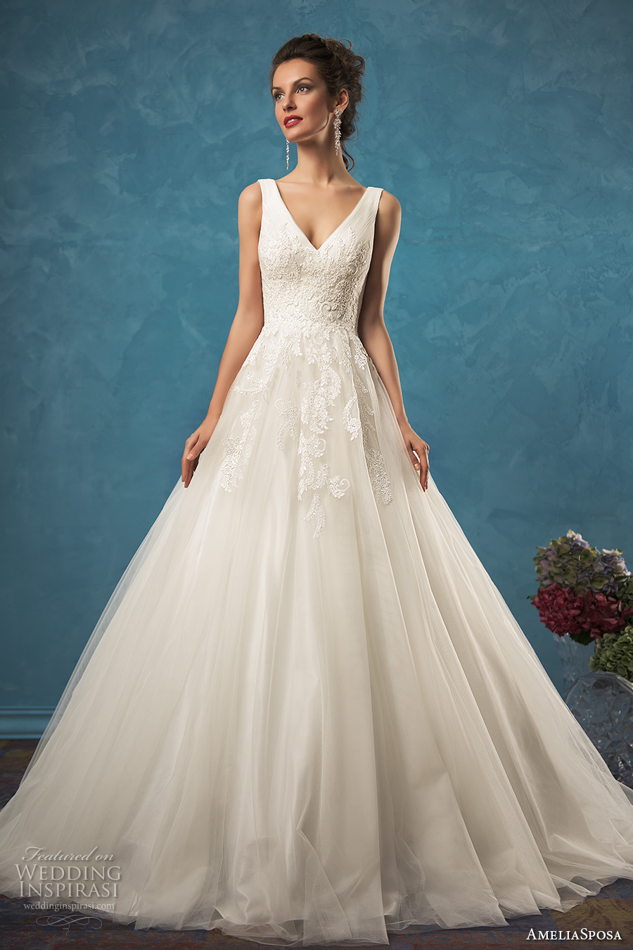 v neck wedding dress amelia sposa 2017 wedding dresses wedding inspirasi 8220