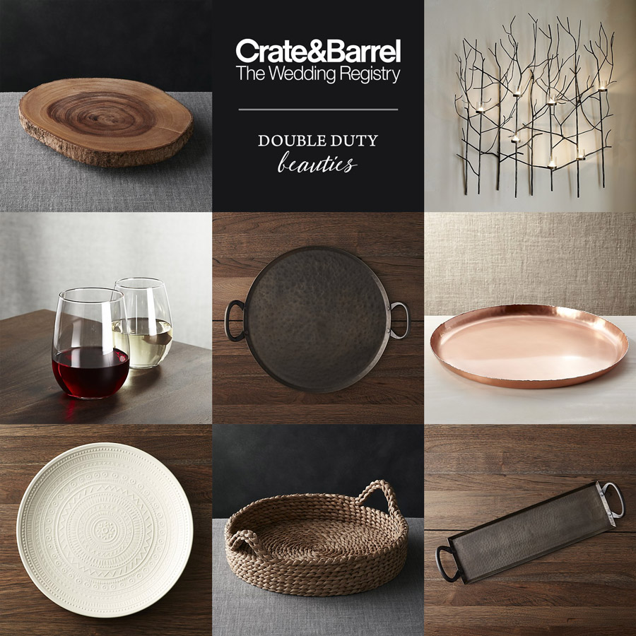 crate barrel wedding registry versatile home decor kitchen favorites tray stemless wine glass - Crate And Barrel End Tables