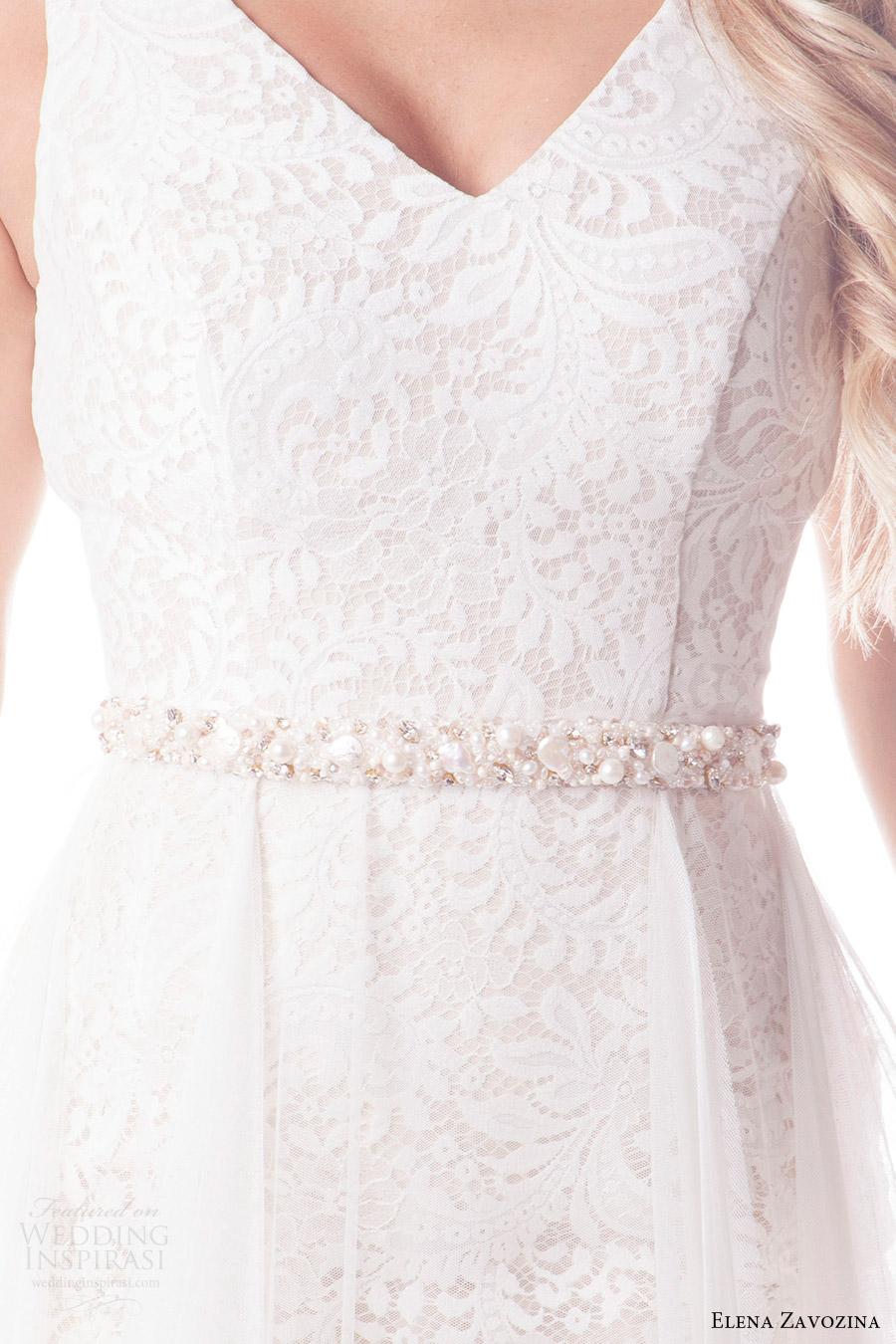 elena zavozina bridal accessories 2016 wedding beaded belt (lisa) mv