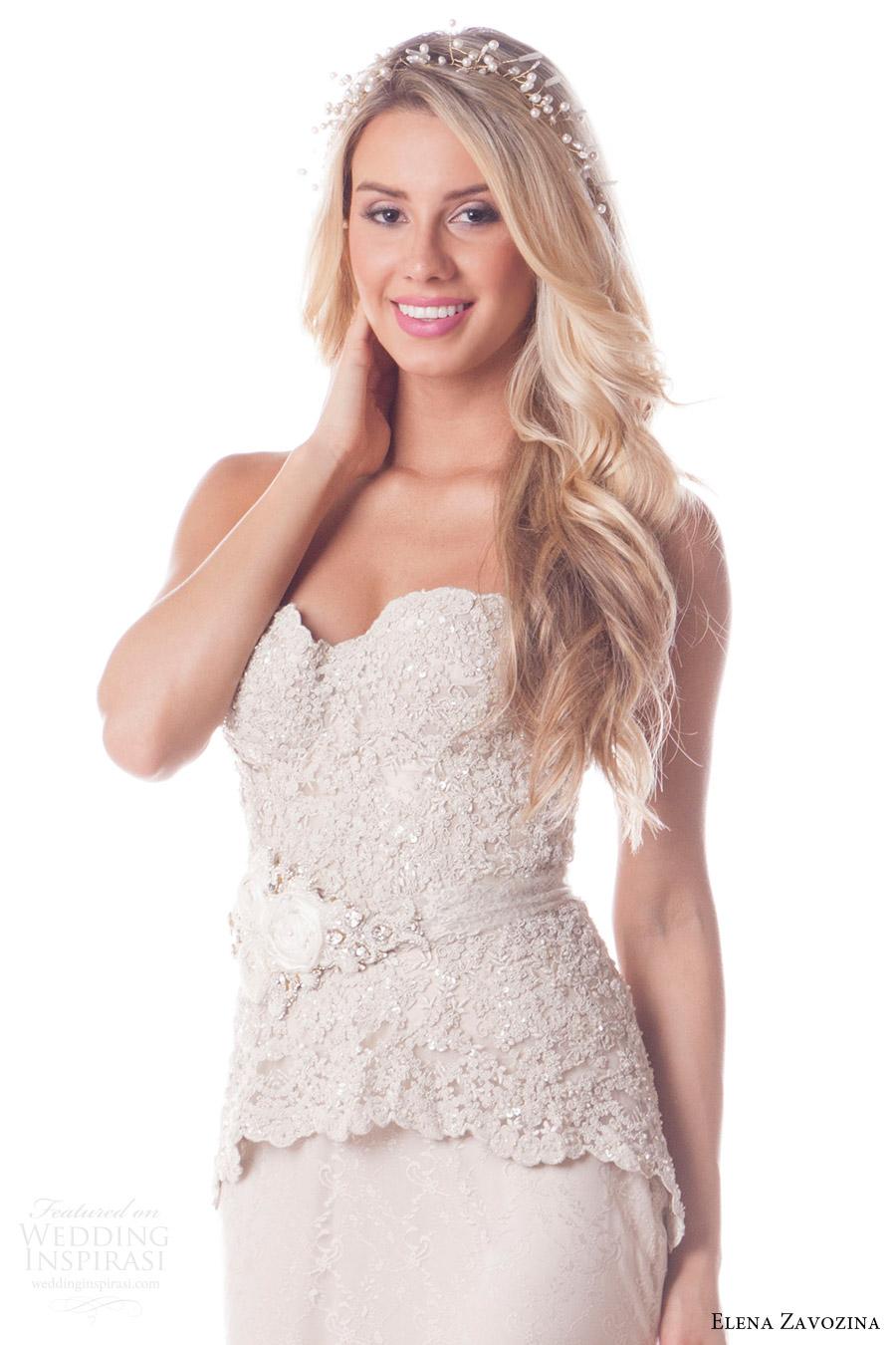 elena zavozina bridal accessories 2016 wedding floral belt (leah) fv