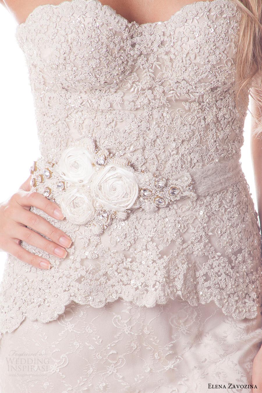 elena zavozina bridal accessories 2016 wedding floral belt (leah) mv