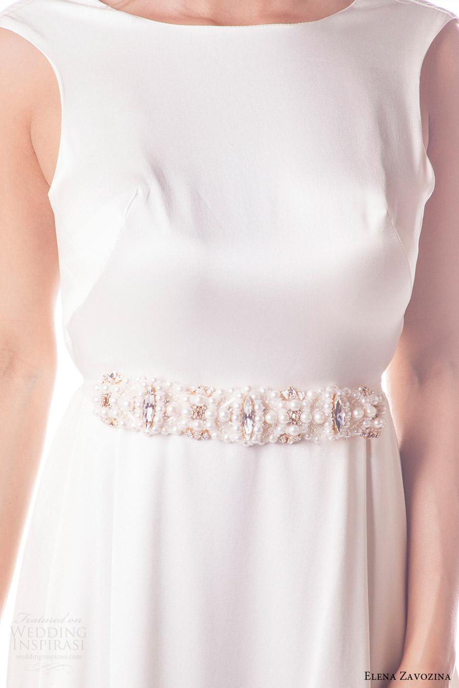 elena zavozina bridal accessories 2016 wedding pearl beaded belt (lula) mv
