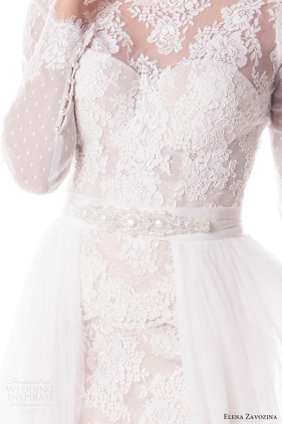 elena zavozina bridal accessories 2016 wedding pearl sash belt (viola) mv
