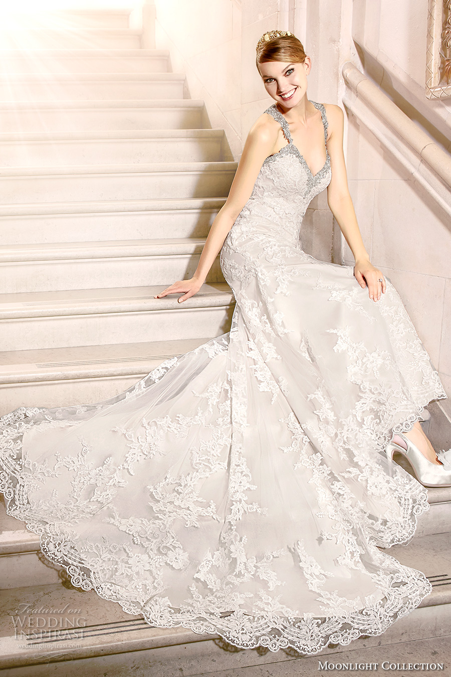 Moonlight collection fall 2016 wedding dresses wedding for Fully beaded wedding dresses
