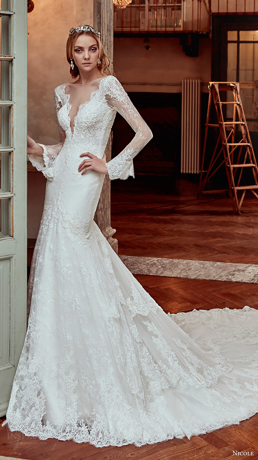 Long Sleeve Fitted Wedding Dresses 64 Beautiful nicole spose bridal long