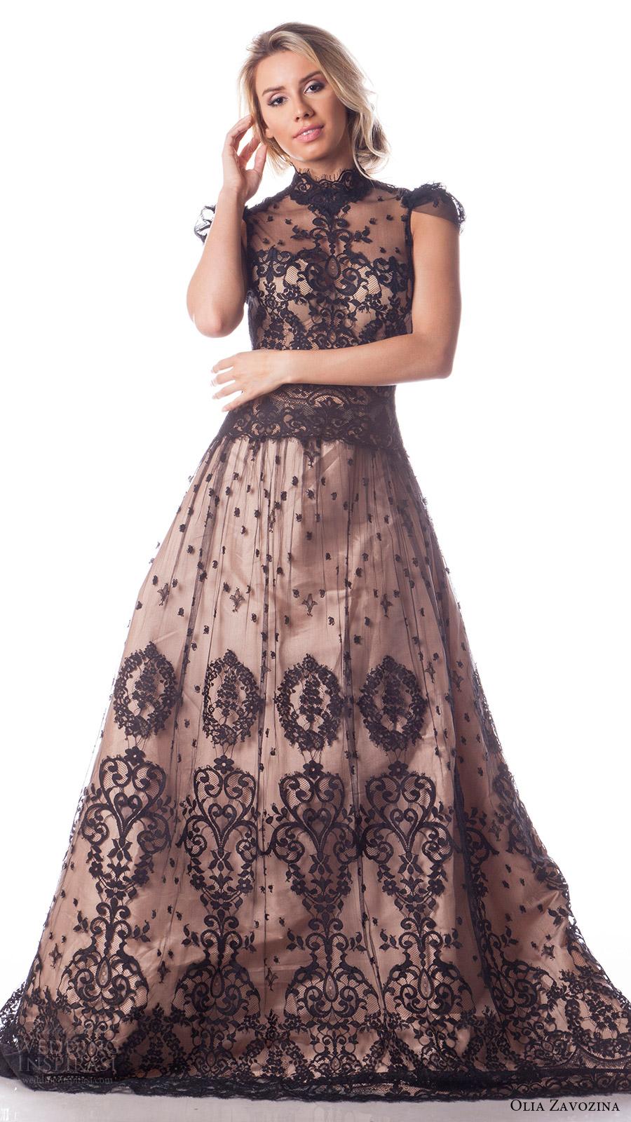Black Lace Wedding Dresses 33 Popular olia zavozina bridal spring