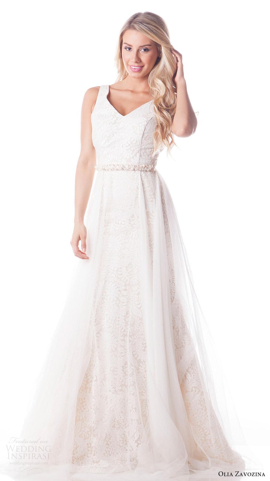 Fit N Flare Wedding Dresses 94 Elegant olia zavozina bridal spring
